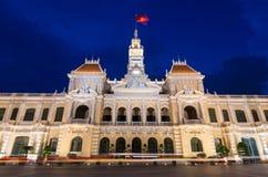 人民的委员会大厦在胡志明市,越南 免版税库存照片