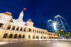 人民的委员会大厦在胡志明市,越南 免版税图库摄影