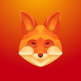 Εκλεκτής ποιότητας ετικέτα αλεπούδων Αναδρομικό διανυσματικό σχέδιο γραφικό Στοκ Εικόνες