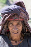 印第安妇女 斯利那加,克什米尔,印度 关闭 免版税库存照片