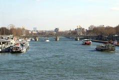 Ο ποταμός του Σηκουάνα στο Παρίσι, Γαλλία, Ευρώπη Στοκ Εικόνα