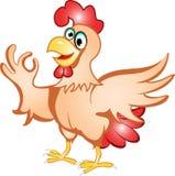 动画片母鸡 库存照片