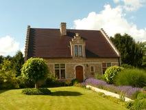欧洲外部房子 免版税库存照片