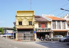 老马来西亚镇的历史部分 库存图片