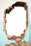 Кирпичная стена отверстия Стоковое Фото