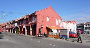 老马来西亚镇的历史部分 库存照片