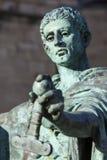 康斯坦丁雕象在约克 图库摄影