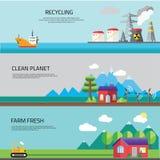 工厂风景,生态概念 库存图片