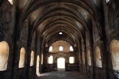 被破坏的教会 免版税库存照片