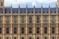 Парламент Вестминстера, деталь Стоковая Фотография