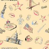 Безшовная текстура Америка США Стоковые Фотографии RF