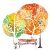 秋天方形的背景 库存照片