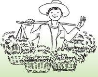 αγρότης ευτυχής Στοκ Εικόνα