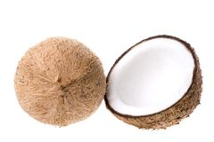 查出的椰子 免版税库存照片