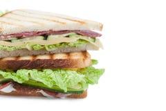 Сандвич на белой предпосылке Стоковое Изображение