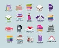 Διανυσματικό σύνολο προτύπων λογότυπων βιβλίων Στοκ φωτογραφία με δικαίωμα ελεύθερης χρήσης