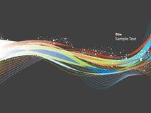 波浪的背景 免版税图库摄影