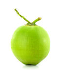 在白色背景的绿色椰子果子 免版税库存图片
