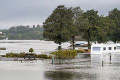 河洪水 免版税库存照片