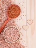 Рис всего риса зерна традиционного тайского самый лучший для здоровой и чистой еды Стоковая Фотография