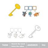 发现暗藏的词钥匙 库存照片