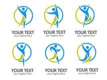 Ενεργό διάνυσμα λογότυπων ανθρώπων Στοκ εικόνα με δικαίωμα ελεύθερης χρήσης