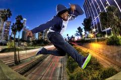 年轻人在洛杉矶 图库摄影