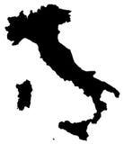 χάρτης της Ιταλίας Στοκ εικόνα με δικαίωμα ελεύθερης χρήσης