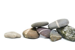 五颜六色的小卵石 库存照片