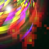 与光线影响的抽象未来派背景 免版税库存照片
