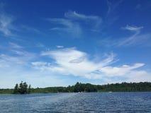疯狂的天空在威斯康辛 库存照片