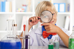 Ученый ребенк Стоковые Изображения