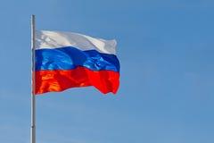 Ρωσική σημαία Στοκ φωτογραφία με δικαίωμα ελεύθερης χρήσης