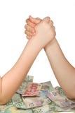 货币战争 免版税库存图片