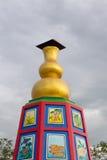 Χρυσή κολοκύθα ένα ασιατικό σύμβολο Στοκ Εικόνες