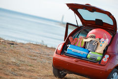Отключение семейного автомобиля Стоковое Фото