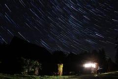 满天星斗的晚上 库存照片