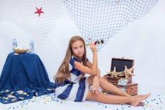 青少年美丽的女孩 图库摄影