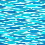 与风格化波浪的无缝的样式 图库摄影