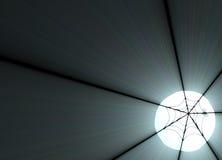 火光发光的轻的月亮蜘蛛网 免版税库存照片