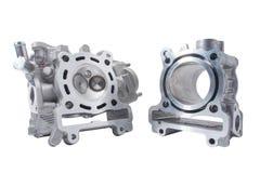 摩托车引擎头和圆筒 免版税图库摄影