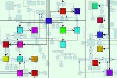 技术背景的电路 免版税图库摄影