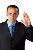 做誓愿的生意人 免版税库存图片