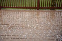 Лепешки окликом на деревянной палубе Стоковая Фотография RF