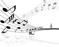 музыкальные примечания Стоковые Изображения RF