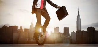 Бизнесмен принимая риск в Нью-Йорке Стоковые Изображения RF