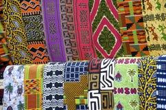 Αφρικανικά σχέδια υφασμάτων Στοκ φωτογραφία με δικαίωμα ελεύθερης χρήσης