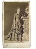 照片葡萄酒妇女 免版税图库摄影