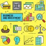 Διάνυσμα επιχειρήσεων και επένδυσης Στοκ Εικόνες