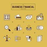 Σύνολο επιχειρησιακών οικονομικό εικονιδίων Στοκ Εικόνα